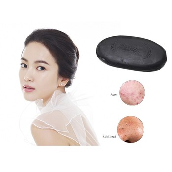 Bamboo Charcoal Soap 45g Removal Pimple Pore Acne Treatment Soap Cleaner Moisturizing Honey Soap Face Care Wash Basis Soap