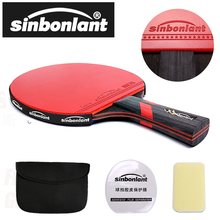 Tennis-Table-Racket Rackets Case Short Rubber Carbon-Blade Ping-Pong Long-Handle Double-Face-Pimples