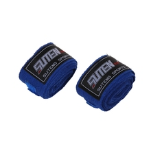 SUTENG bandage MMA strip Boxing boxing gloves boxer punching bag 2.5M blue