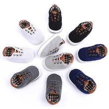 Baby Canvas Shoes Pure Color for 0-1Years Old Girl Non-slip Baby Sneakers Newborn Casual Style 1Pair Prewalker Baby Summer Shoes
