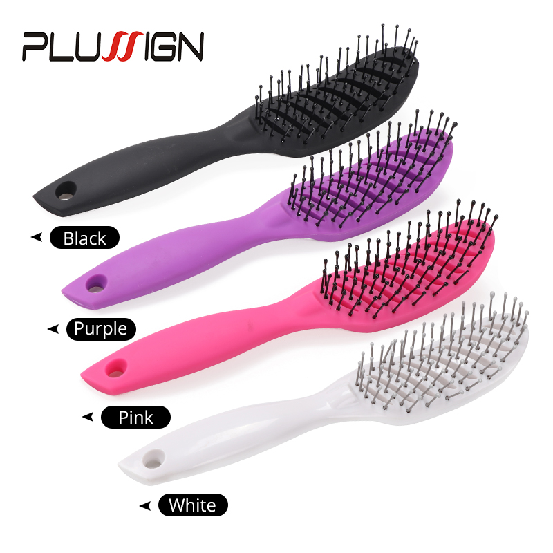 Plussign New Hair Brushes Curved Vented Styling Hair Brush, Detangling Thick Hair Massage Blow Drying Brush, Massage Hair Comb 1