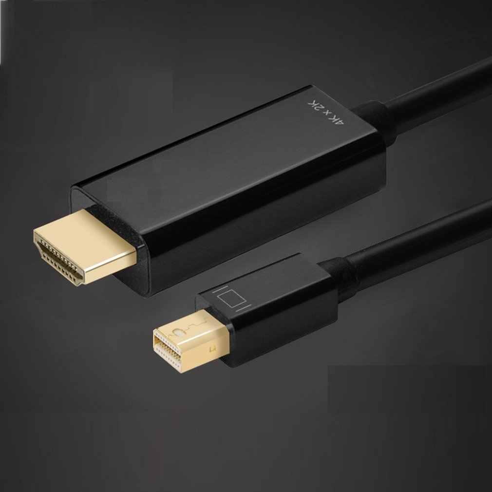 จอแสดงผล MINI DP ถึงสาย HDMI อะแดปเตอร์ชาย-ชายสำหรับ MacBook Pro Air กล้องโปรเจคเตอร์ทีวี 4K * 2K 3D