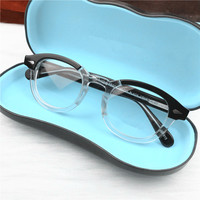 Retro Round Johnny Depp Optical Glasses Frame Men Women Lemtosh Computer Reading Eyeglasses Optical Prescription Brand design