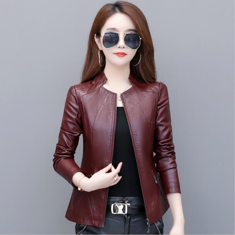 New Fashion Plus Size M-4XL   Leather   Jacket Women   Leather   Coat 2019 Women's   Leather   Jacket Short Motorcycle Coat Female Jacket