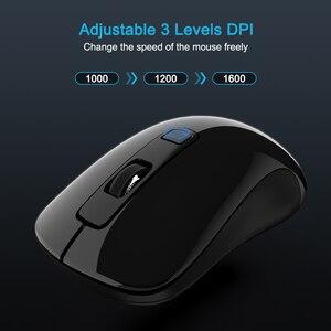 Image 4 - SeenDa Silenzioso Bottoni 2.4G Mouse Senza Fili per Computer Portatile Notebook Mouse Da Viaggio Mini Ultra Slim Mouse per il Computer Portatile Del PC desktop