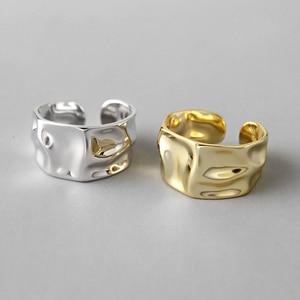 Image 3 - Irregular 925 Sterling Silver Rings Female Resizable Korea Ring Handmade Anillos Plata 925 Para Mujer Bijoux Femme 2019 Jewelry