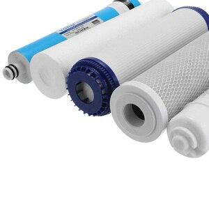 Image 2 - 5 段階逆浸透 ro 水フィルター交換セット水フィルターカートリッジ 75 gpd 膜家庭用浄水器