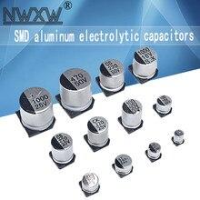 10 pces smd capacitor eletrolítico alumínio 10v 16v 25 35v 50v 1uf 2.2uf 4.7uf 10uf 47uf 100uf 220uf 330uf 470uf 1000uf 0.1uf uf uf uf uf