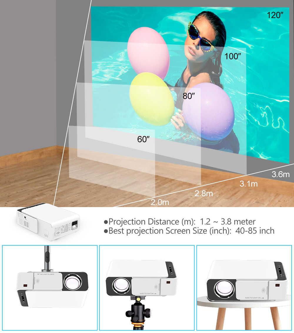 Vivicine V20 格安スマートビデオプロジェクター、 hdmi usb pc ハンドヘルドポータブルミニ led プロジェクター映画ゲーム