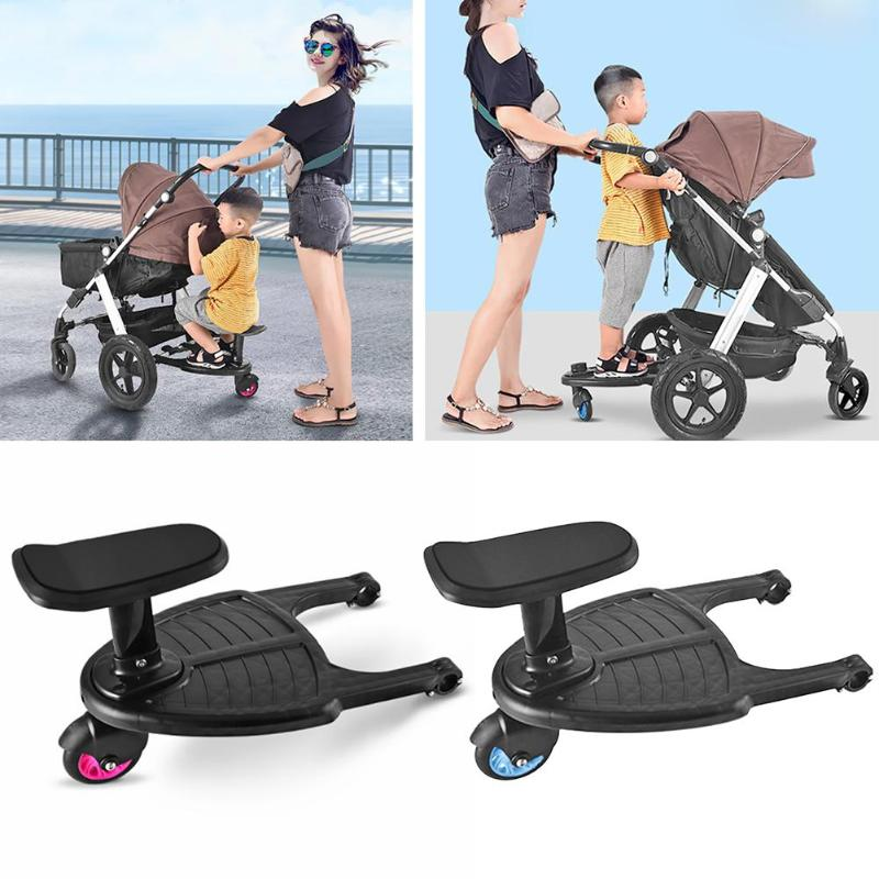 1set Sitting Seat Stroller Pedal Hanging Trailer Auxiliary Stroller Pedal Kids Standing Plate Compressive Deformation Pushchair