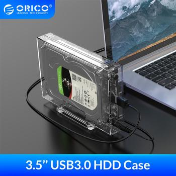 ORICO 3.5'' USB3.0 Hard Drive Enclosure 12TB Large Capacity HDD Case with Holder 12V2A Power Adapter For Windows/Mac/Linux