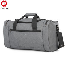 Tigernu 2019 Travel Bags Spalshproof Large Capacity Fashion Duffle Bag Hand Luggage Traveling Handbags for Men Women Casual Male(China)