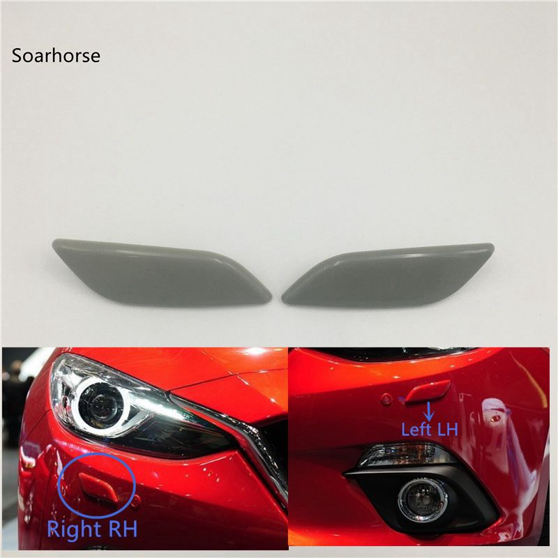 For Mazda 3 M3 Axela 2014 2015 2016 Headlight Headlamp Washer Nozzle Jet Cover Cleaning Cap image