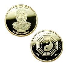 India Buddha Statue Commemorative Coin Golden Badge
