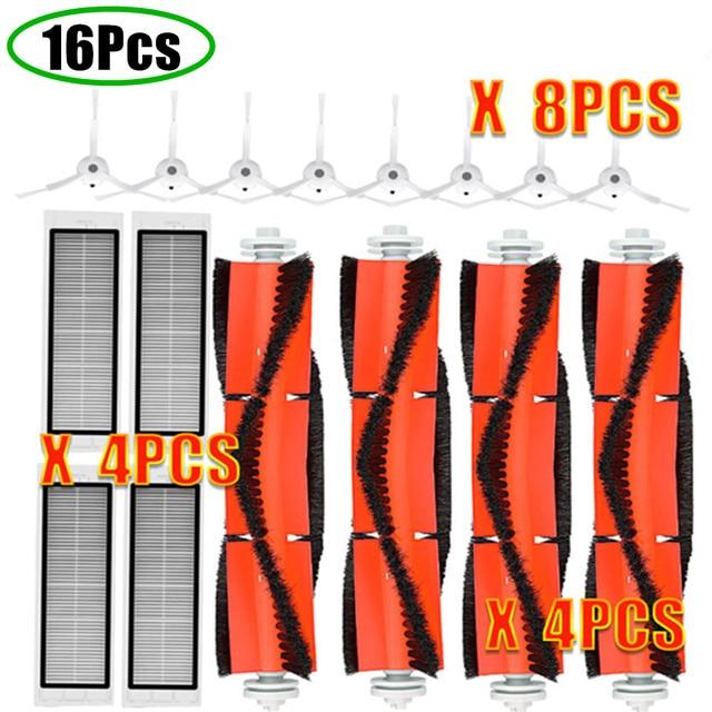 Robot Vacuum Part Pack of HEPA Filter Main Brush Side Brush Suitable for Xiaomi mijia 1/ 1S / roborock Vacuum Cleaner S5 1