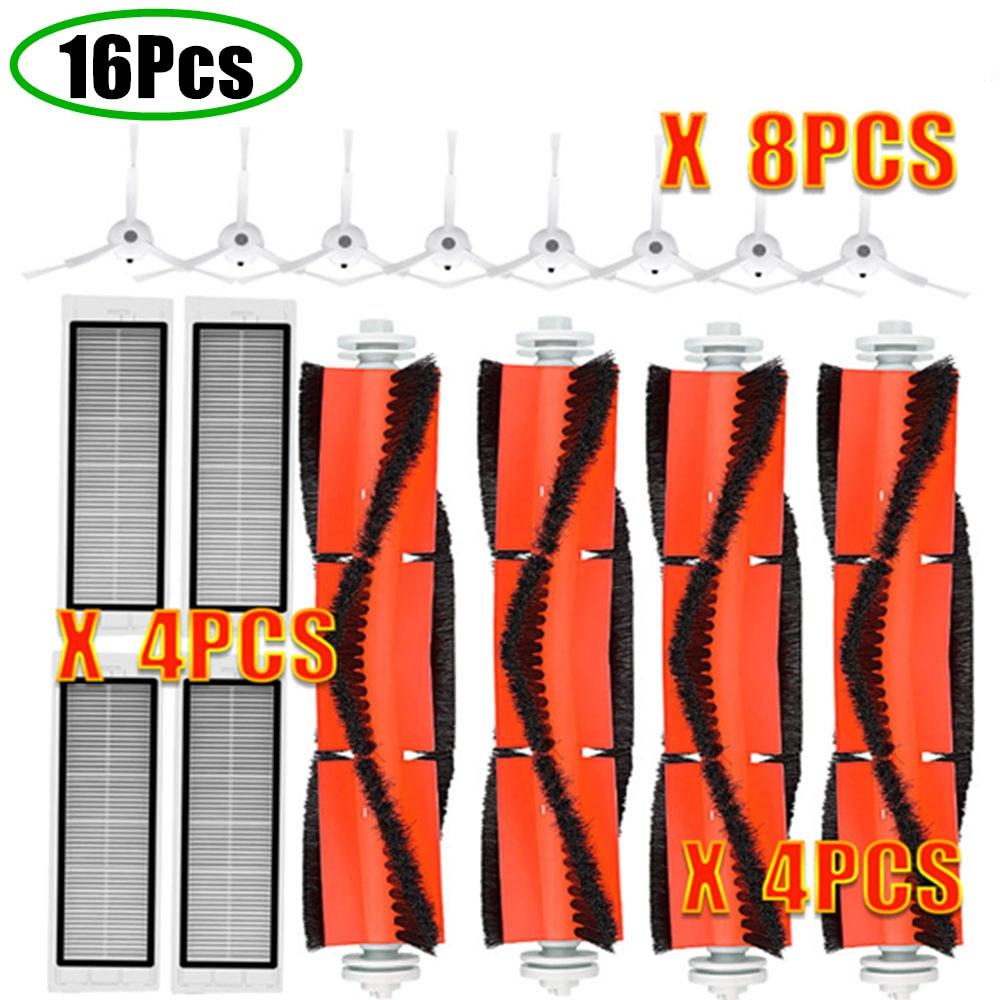 Robot Vacuum Part Pack of HEPA Filter Main Brush Side Brush Suitable for Xiaomi mijia 1/ 1S / roborock Vacuum Cleaner S5