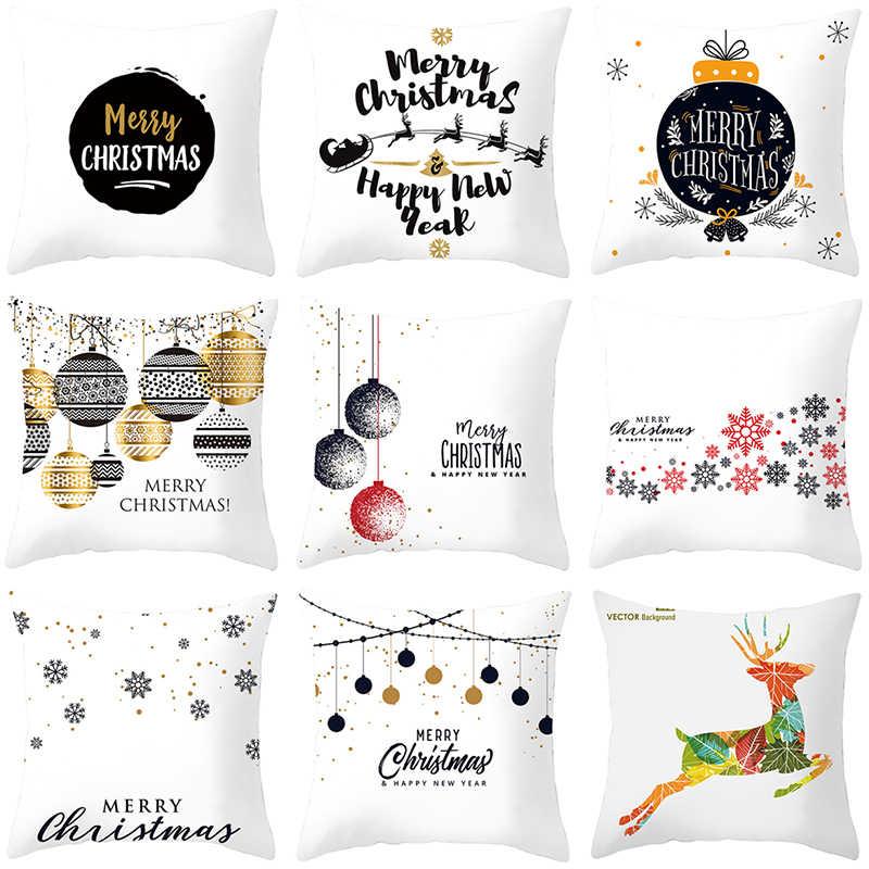 Fodere per Cuscini Buon Decorazioni Di Natale per la Casa Regali di Cristmas Decorazione 2019 di Natale Ornamenti Noel Federa Felice Anno Nuovo 2020