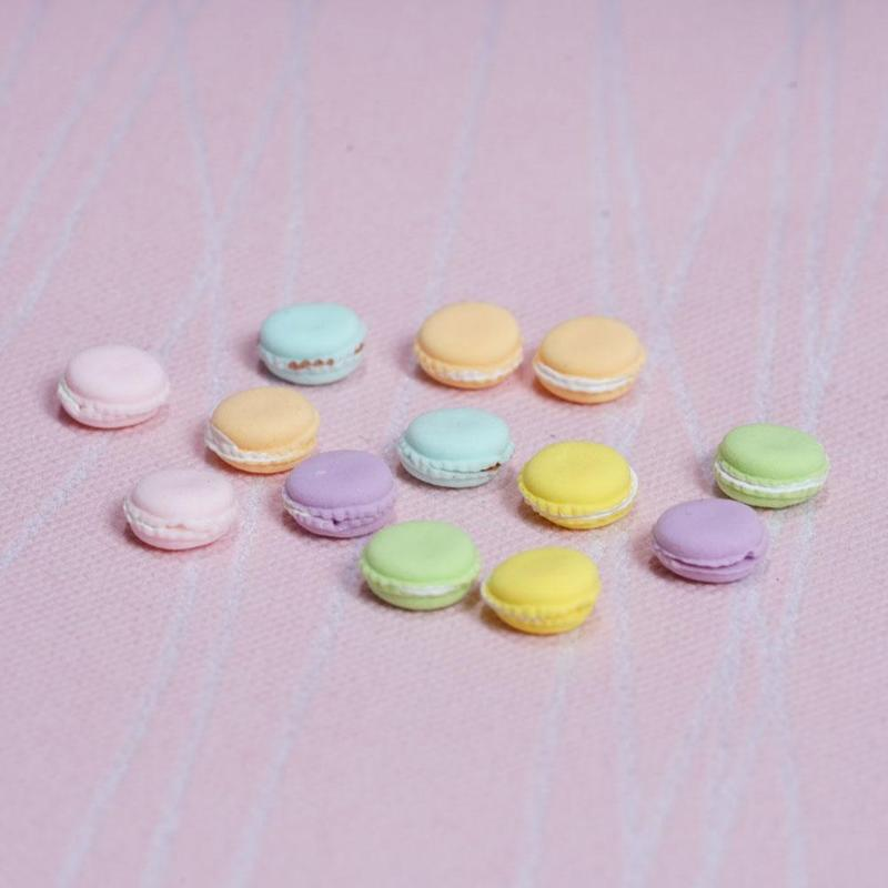 1:12 Dollhouse French Macarons Miniatures Doll Food Macarons Cookie Model Toy Dollhouse Decoration Accessories Kids Toys