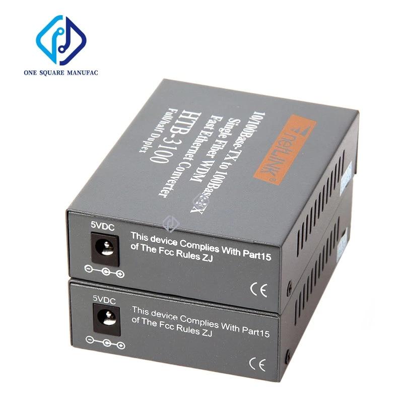 Hundred MByte NetLink HTB-3100 A/B Fiber Optical Media Converter Single Mode Single Fiber 25km SC 10/100M