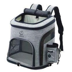 Bolsa para perros, mochila para perros transpirable, bolsa para transportar la portátil al aire libre, Transportín para mascotas de gran capacidad L