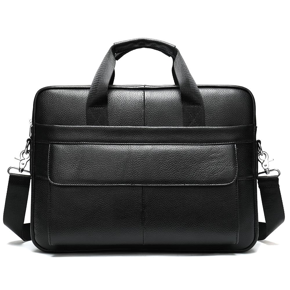 NWMLM1115Factory direct sale genuine leather cowhide men's bag business briefcase Single Shoulder Messenger Bag men's laptop bag