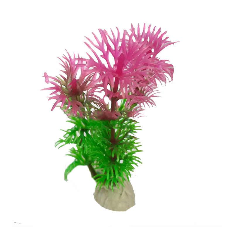 حوض السمك نباتات بلاستيكية اصطناعية ديكور حوض السمك المناظر الطبيعية 1 قطعة حوض للأسماك الاصطناعية