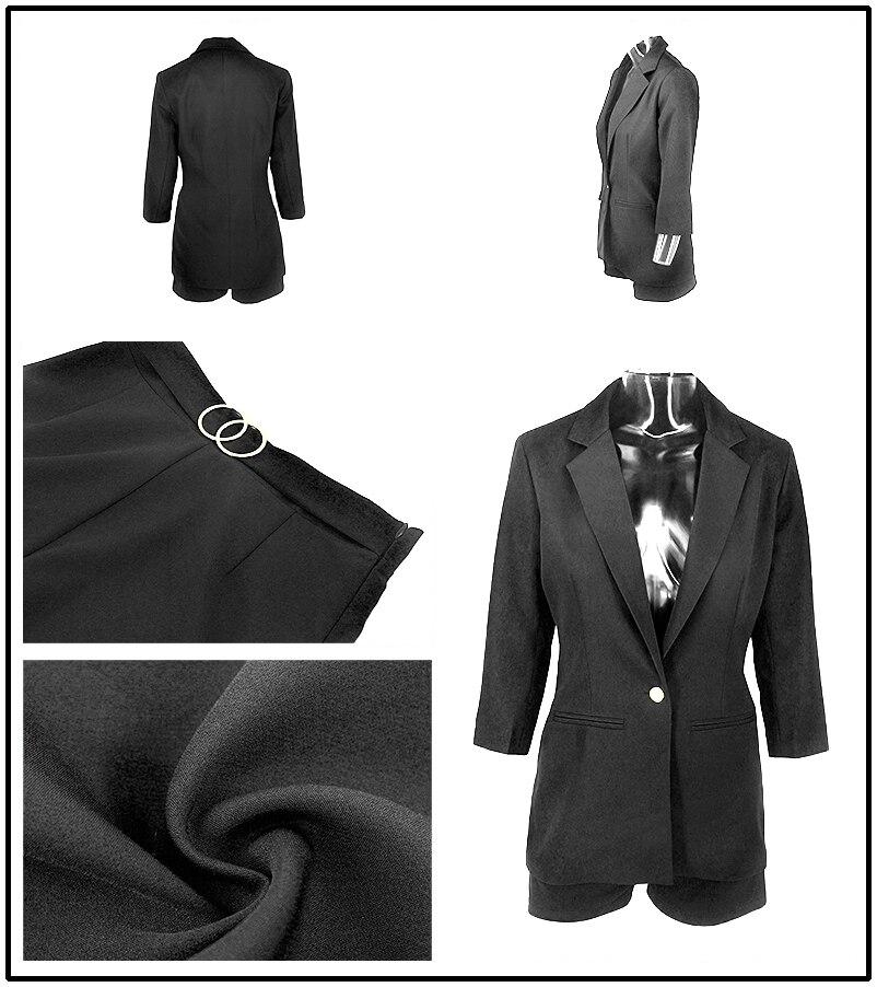 PFFLOOK Work Ol Suit Female Blazer And Pants Suit Set Female Coat V Neck Sexy Chic Suit Women Office Set 2 Pieces Outfits Female 10