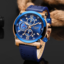 Relojes hombre LIGE Mens Watches Top Brand Luxury Casual Sports Quartz Watch Men Leather Military Luminous Waterproof WristWatch oulm watches male quartz watch casual leather strap military wristwatch men s watch top brand luxury clock relojes hombre