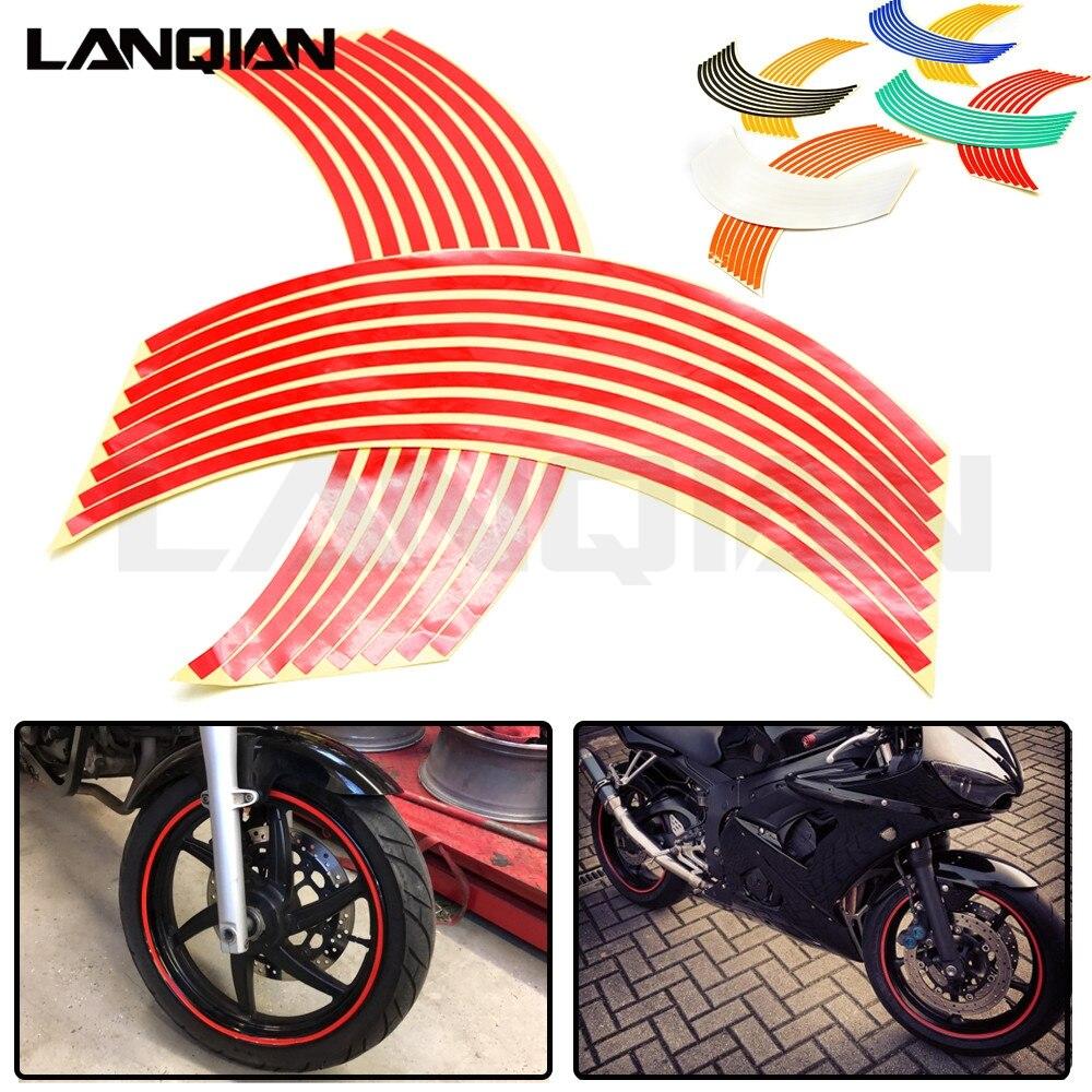 For HONDA CRF450R CRF250X CRF450X CRF 450R 250X 450X 16 Strips Motorcycle Wheel Sticker Reflective Decals Rim Tape Car/bicycle