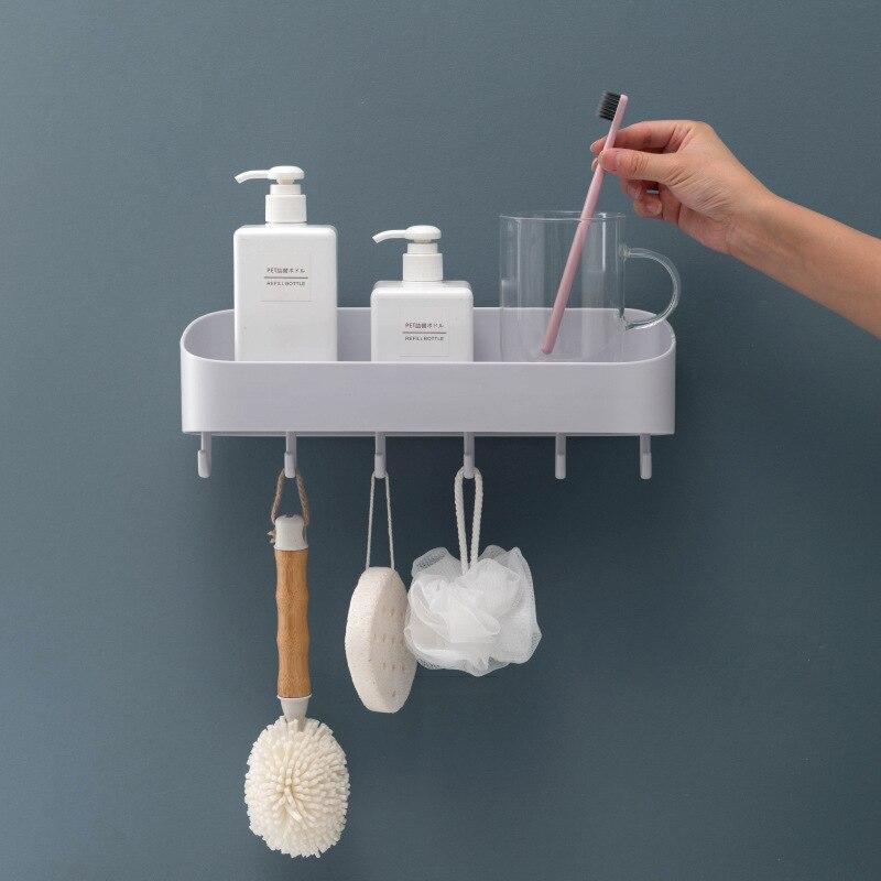 Туалет с крюком, полки для хранения для ванной комнаты умывальник, туалет, настенные вешалки, стеллаж для хранения, дырочки, ванная комната