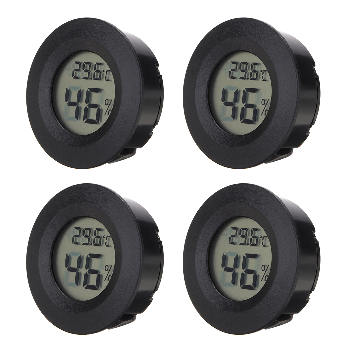 4 stücke Genaue Indoor Zimmer LCD <font><b>Digital</b></font> <font><b>Thermometer</b></font> <font><b>Hygrometer</b></font> Thermo-<font><b>Hygrometer</b></font> Temperatur Feuchtigkeit Meter Messen image