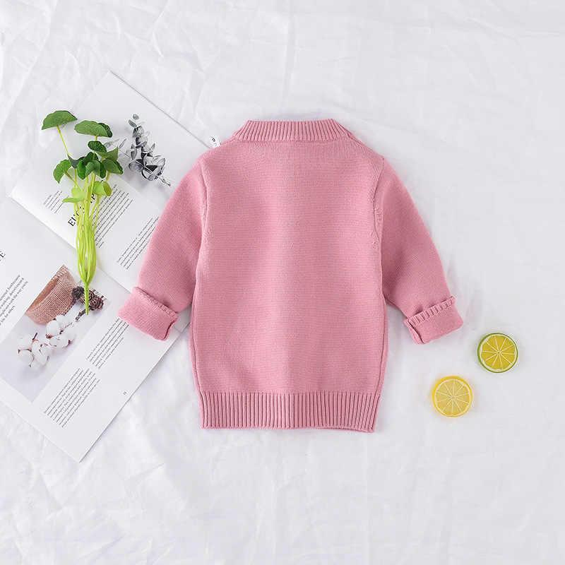 새 도착 소녀 스웨터 어린이 의류 토끼 패턴 니트 스웨터 아기 소녀 풀오버 스웨터 니트 1-5 t 어린이