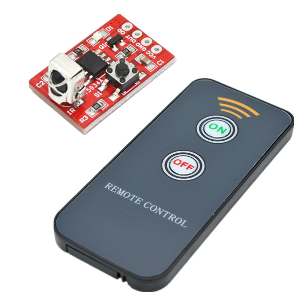 Taidacent Wireless Driving Module Remote Control Diy Kit Led Thermometer Ir Receiver IC Learning Code Infrared Receiver Module