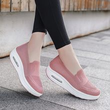 2020 sneakers for women pink wedge heel high platform sneakers for girls new summer women sports shoes кроссовки женские 316(China)