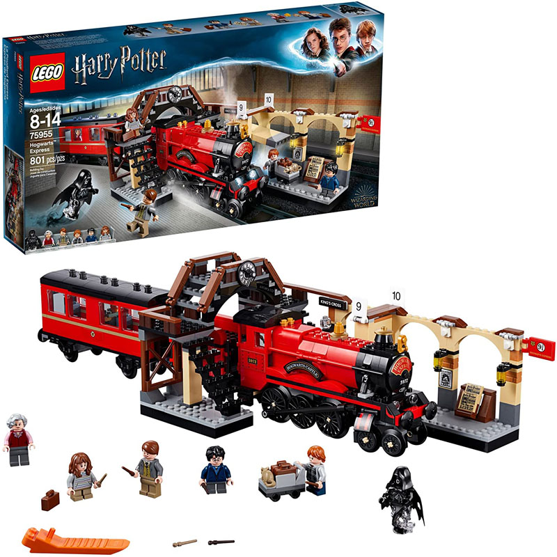 LEGO <font><b>Harry</b></font> <font><b>Potter</b></font> Hogwarts Express <font><b>75955</b></font> Toy Train Building Set includes Model Train and <font><b>Harry</b></font> <font><b>Potter</b></font> Minifigures Blocks Toy image