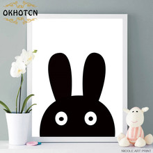 Cartoon Pirate Hero Masked Rabbit Minimalist Canvas Poster Nordic Art Painting Wall Picture Children Room Modern Home Decoration