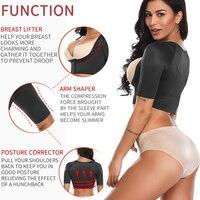 Women's Shapewear Tops Wear Your Own Bra Short Sleeve Crop Top Arm Posture Corrector Crop Top Arm Shapers Short Sleeve Humpback 3