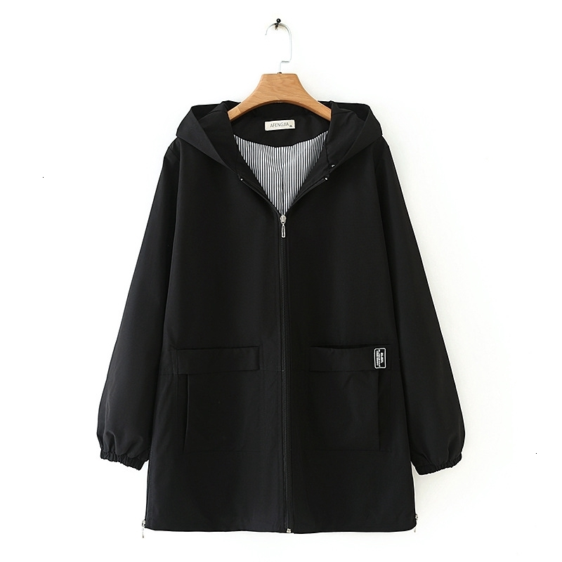 Grande taille 2XL-5XL Herfst hiver Long Trenchcoat vêtements de travail femmes grande taille vêtements