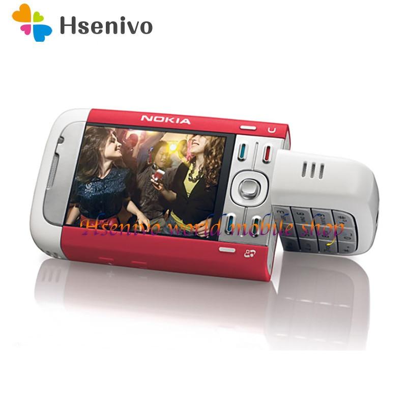 5700 100% Original Unlocked Used Nokia Nokia 5700 Mobile Phone 2.2' Bluetooth 3G 2.0MP FM Radio Symbian 9.2 Phone  Free Shipping
