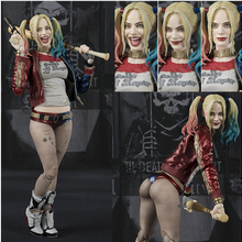 15cm SHF DC Suicide Squad Harley Quinn Action Figures Toys Doll for Halloween Christmas Gift