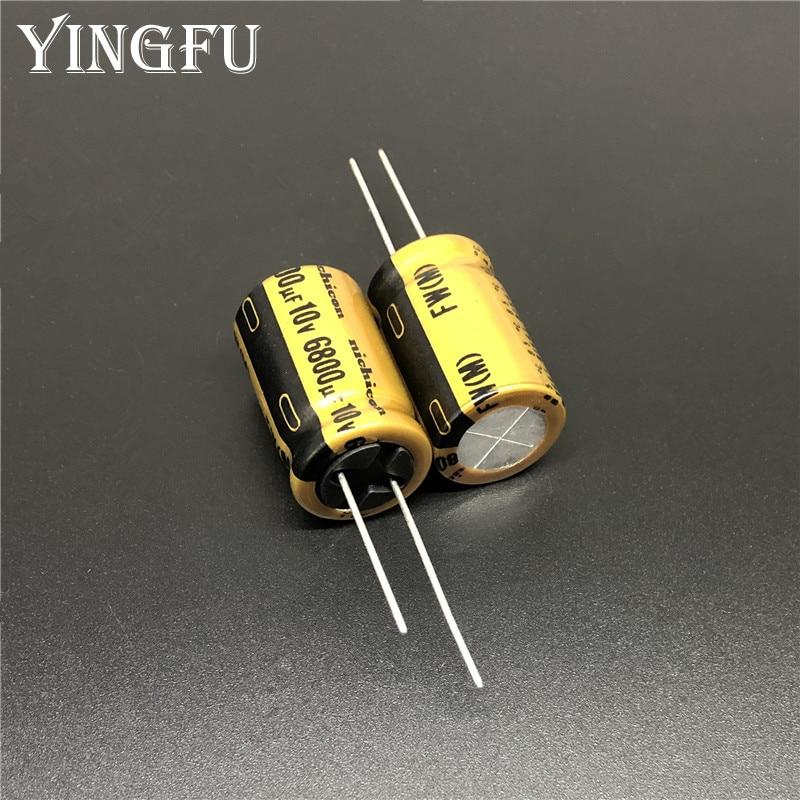 2pcs/10pcs 6800uF 10V NICHICON FW Series 16x25mm 10V6800uF Audio Aluminum Electrolytic Capacitor