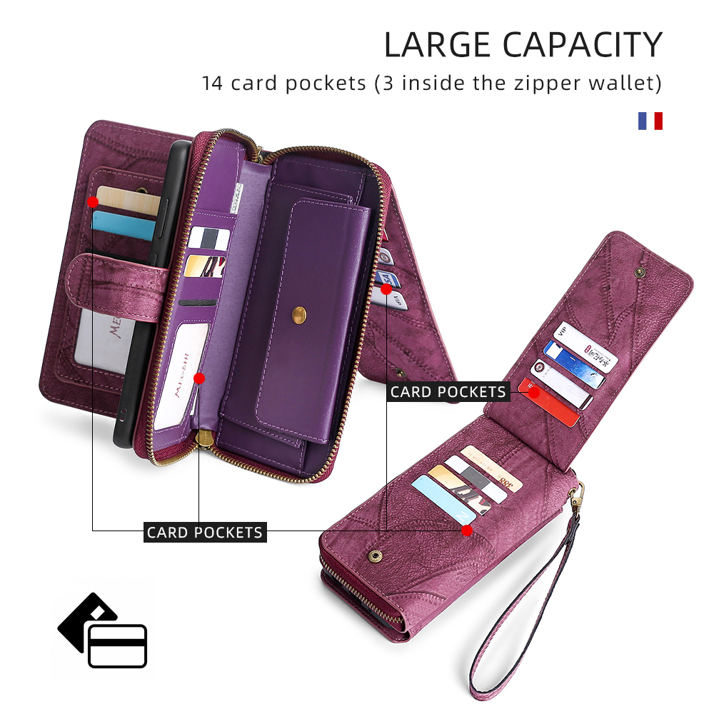 Wallet Leather Phone Case For iPhone 6 6s 7 8 Plus X Xs Xr XsMax 11 11Pro 11ProMax 12 Pro Max Magnetic purse for business wallet