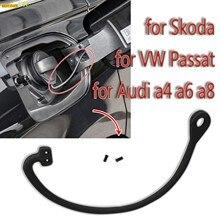 Tapa de tanque de combustible para coche, Cable de Antipérdida de gasolina y diésel para VW Golf Bora Passat TOUAREG Audi A1 A2 A3 A4 Skoda Octavia