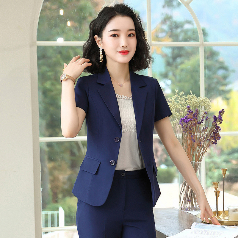 Business Suit 2020 New Style Debutante Light Luxury Western Style Business Fashion Goddess Van High-End Casual Elegant Kl117