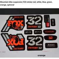 Pegatina FOX de 32MM adecuada para horquilla de bicicletas de montaña, tapón de suspensión para bicicleta de 26, 27,5 y 29 pulgadas