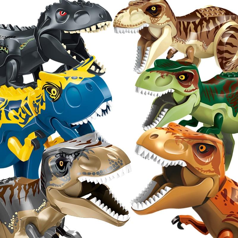 Building Block Dinosaur Jurassic Tyrannosaurus Rex World 2 DIY Assembly Bricks Figures Dino Pterosaur Raptor Toy Kids Gift Child