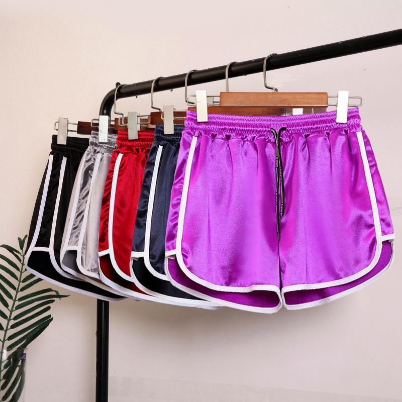 Fashion Summer Short Women Elastic Waists Ladies Short Pants Sexy Girl Solid Color Casual Shorts S-5XL Home Shorts For Female