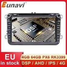 Eunavi 2 Din Android Car Multimedia DVD Per Il VW Passat CC Polo GOLF 5 6 Touran EOS T5 Sharan Jetta tiguan RNS510 Autoradio GPS 4G