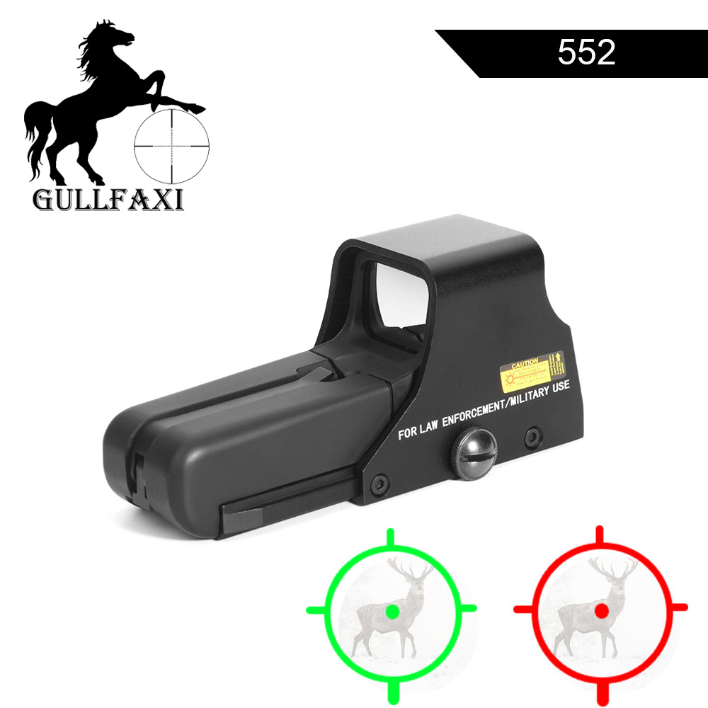 Gullfaxi Holographic Weapon Sight 552 Red Dot Sight Scope Hunting Airsoft Gun Optic Sight Red Green Reflex Collimator Sight