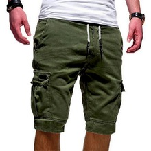 Для мужчин s военные карго шорты армия камуфляж тактический Короткие штаны-карго Для мужчин свободный работы Повседневное коротким рукавом...